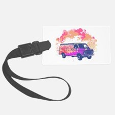 grunge retro hippie van.png Luggage Tag