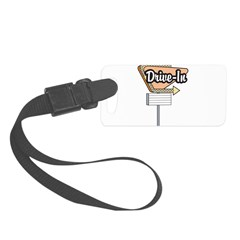 retro drive in sign.png Luggage Tag