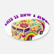how i rool.jpg Oval Car Magnet