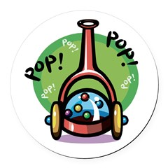 push toy corn popper.psd Round Car Magnet