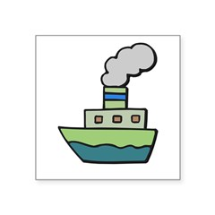 toy boat.psd Square Sticker 3
