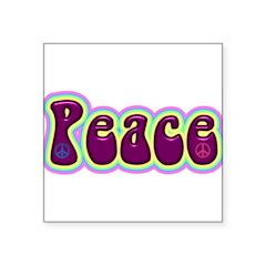"peace.jpg Square Sticker 3"" x 3"""