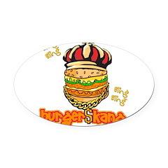 burger kang.png Oval Car Magnet