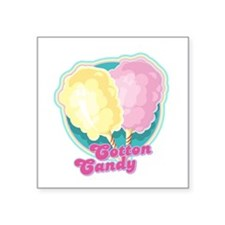 """cotton candy copy.png Square Sticker 3"""" x 3"""""""