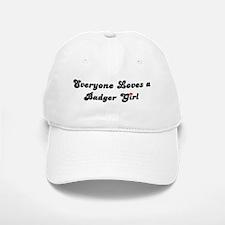 Badger girl Baseball Baseball Cap