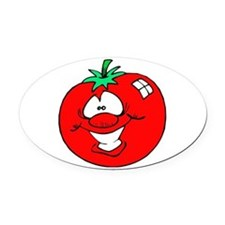 tomatofaceCUTE copy.jpg Oval Car Magnet