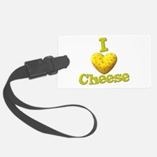 funny cute i heart love cheese cheesey heart Luggage Tag