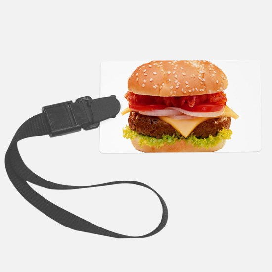 yummy cheeseburger photo Large Luggage Tag