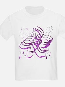 Purple Flowers Girls Light T-Shirt