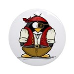 Pirate Penguin Ornament (Round)