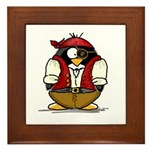 Pirate Penguin Framed Tile