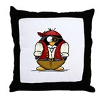 Pirate Penguin Throw Pillow