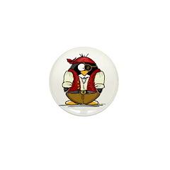 Pirate Penguin Mini Button