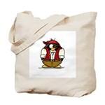 Pirate Penguin Tote Bag