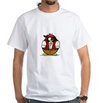 Pirate Penguin White T-Shirt