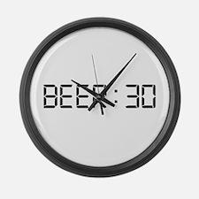 Beer 30 Large Wall Clock