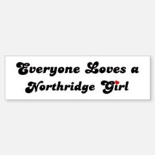 Northridge girl Bumper Bumper Bumper Sticker