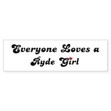 Ryde girl Bumper Bumper Sticker