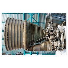 F1 engine on the Saturn V rocket Poster