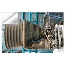 F1 engine on the Saturn V rocket Wall Decal