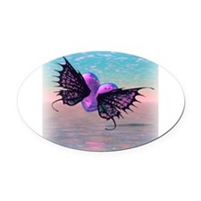 wings copy.jpg Oval Car Magnet