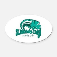 st pats day copy.png Oval Car Magnet