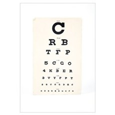Eyesight test chart Framed Print