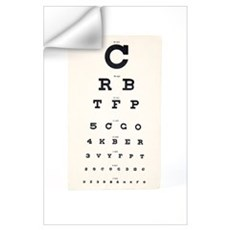 Eyesight test chart Wall Decal