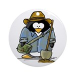 Treasure Hunter Penguin Ornament (Round)