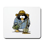 Treasure Hunter Penguin Mousepad