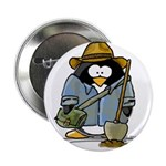 Treasure Hunter Penguin Button