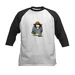 Treasure Hunter Penguin Kids Baseball Jersey