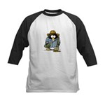 Treasure Hunter Penguin Kids Baseball Jersey