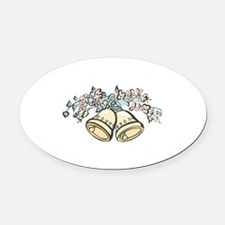 bells and flowers copy.jpg Oval Car Magnet