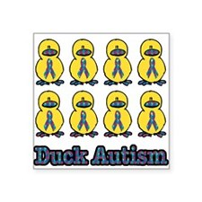 "autism ducks.png Square Sticker 3"" x 3"""