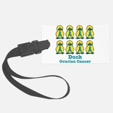 Ducks for a Cause Ovarian Can Luggage Tag