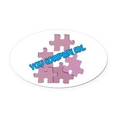 puzzle pieces copy.jpg Oval Car Magnet