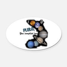 pluto1.jpg Oval Car Magnet