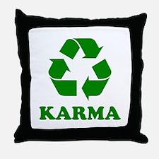 Karma Recycle Throw Pillow