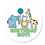 birthday boy copy.jpg Round Car Magnet