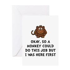 Monkey Job Greeting Card