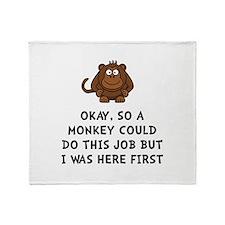 Monkey Job Throw Blanket