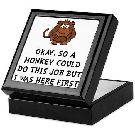 Monkey Job Keepsake Box