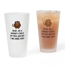 Monkey Job Drinking Glass