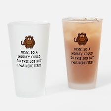Monkey Job Drinking Glass
