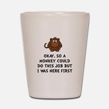 Monkey Job Shot Glass