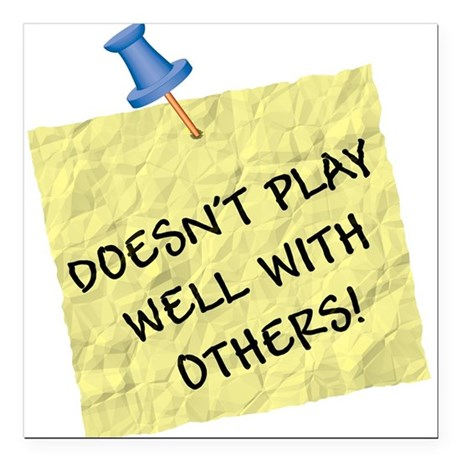 """play well.jpg Square Car Magnet 3"""" x 3"""""""