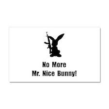 No More Nice Bunny Car Magnet 20 x 12