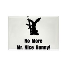 No More Nice Bunny Rectangle Magnet (10 pack)