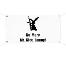 No More Nice Bunny Banner